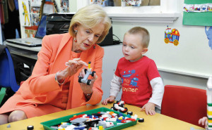 Former Governor General, Quentin Bryce, on her visit to Glenroi Heights Preschool last year.