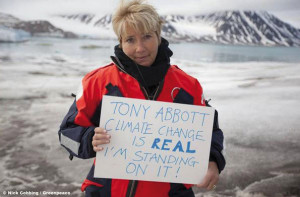 Even actress Emma Thompson weighed in Australia's inaction, with this image of her going viral.